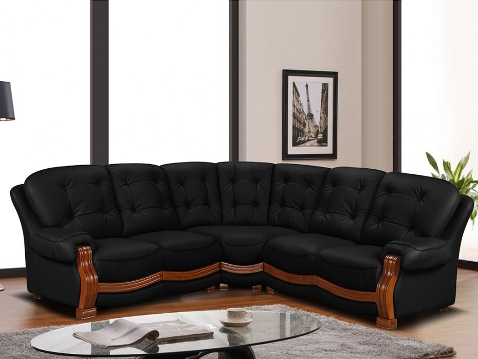 Canapé d'angle rustique bois