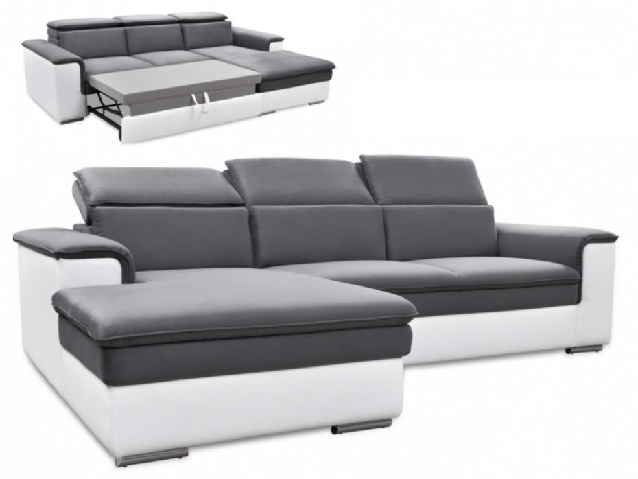 Canapé simili cuir convertible d'angle