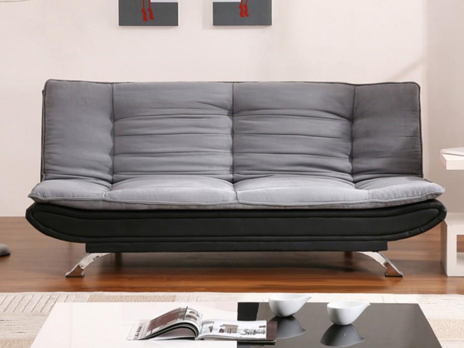 Canapé clic-clac en tissu udara - gris