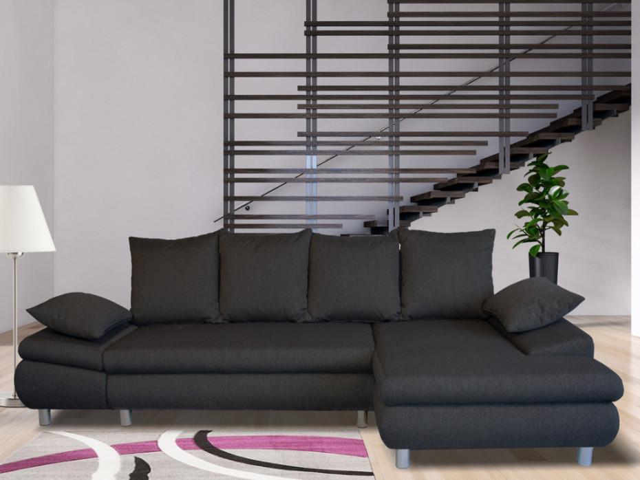 Canapé d'angle convertible en tissu felton