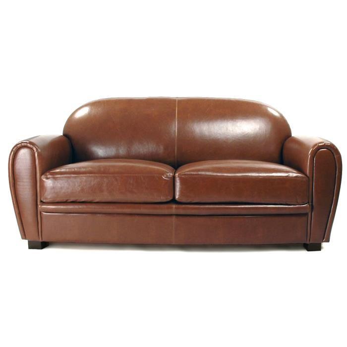 Canapé convertible marron pas cher
