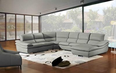 Canapé d'angle convertible tissu et simili kuopio - gris et noir - angle droit