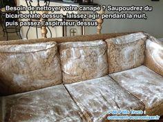 Produit nettoyant canapé