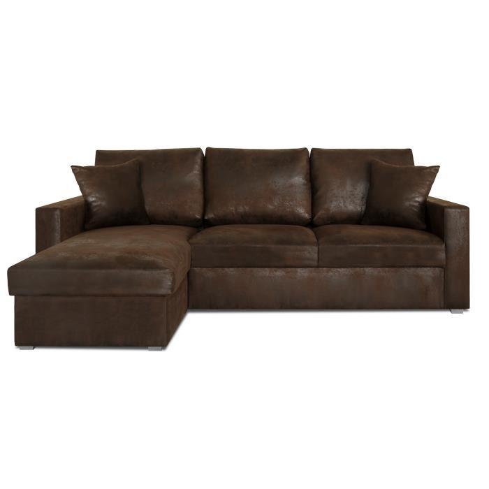 Canapé d angle marron pas cher