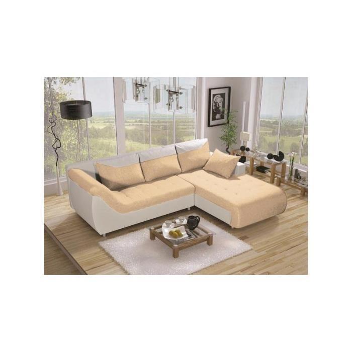 Canapé d'angle couleur crème