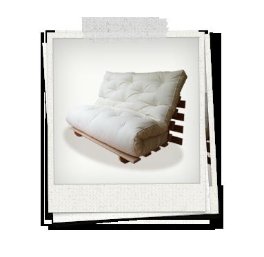 Canapé lit bois massif