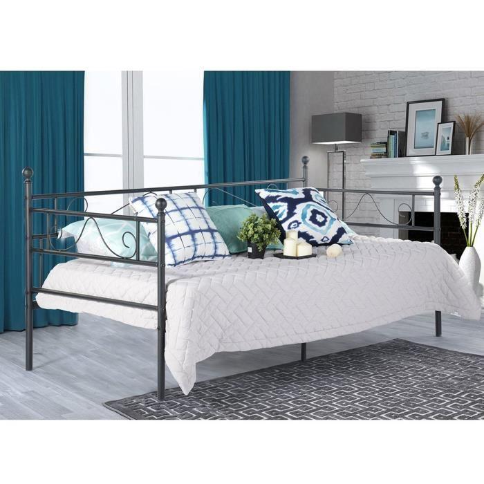 Canapé lit métal