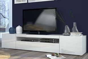 Meuble tele blanc design