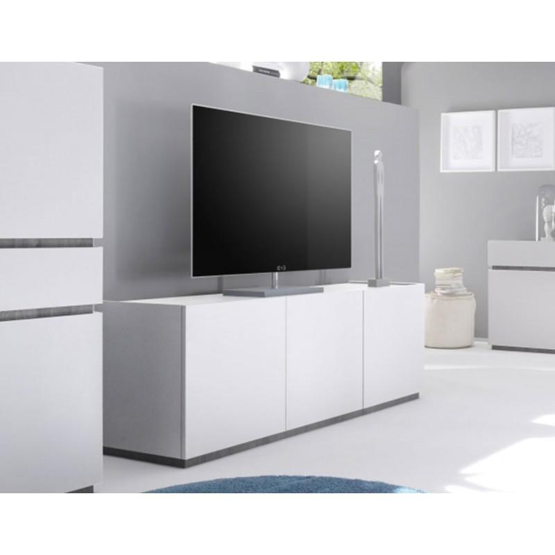 Meuble haut tv blanc