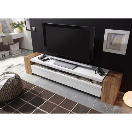 Meuble tv laque et bois
