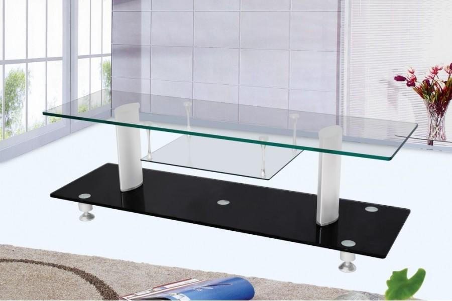 Meuble tv design verre transparent