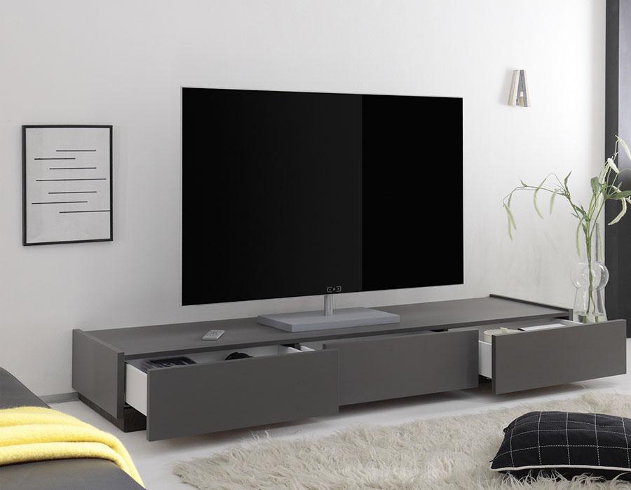 Meuble bas tv gris