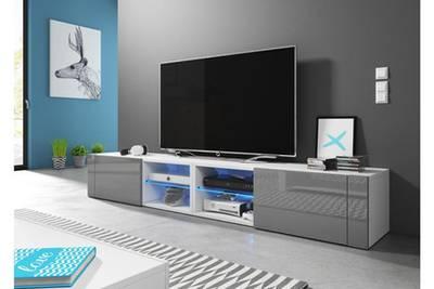 Meuble tv design blanc et gris