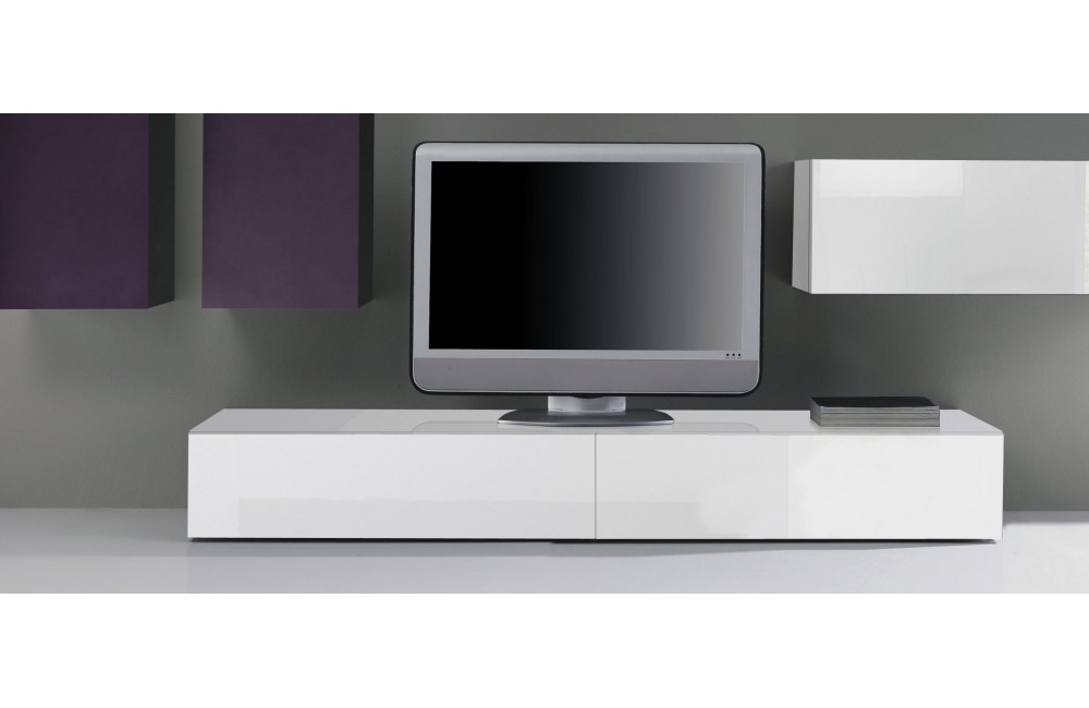 Meuble banc tv blanc