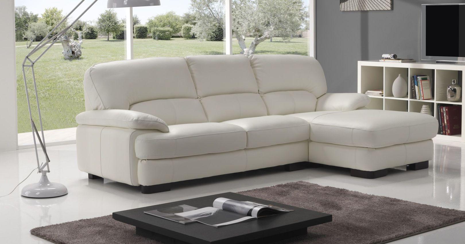 Canapé d'angle en cuir d'occasion