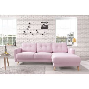 Canape convertible rose pale