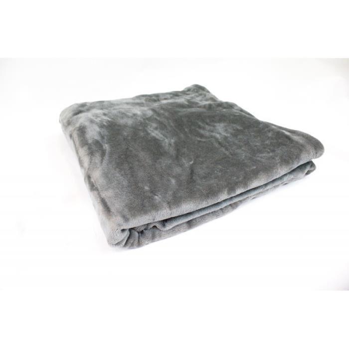 Plaid canapé gris