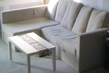 Canapé d'angle trop grand