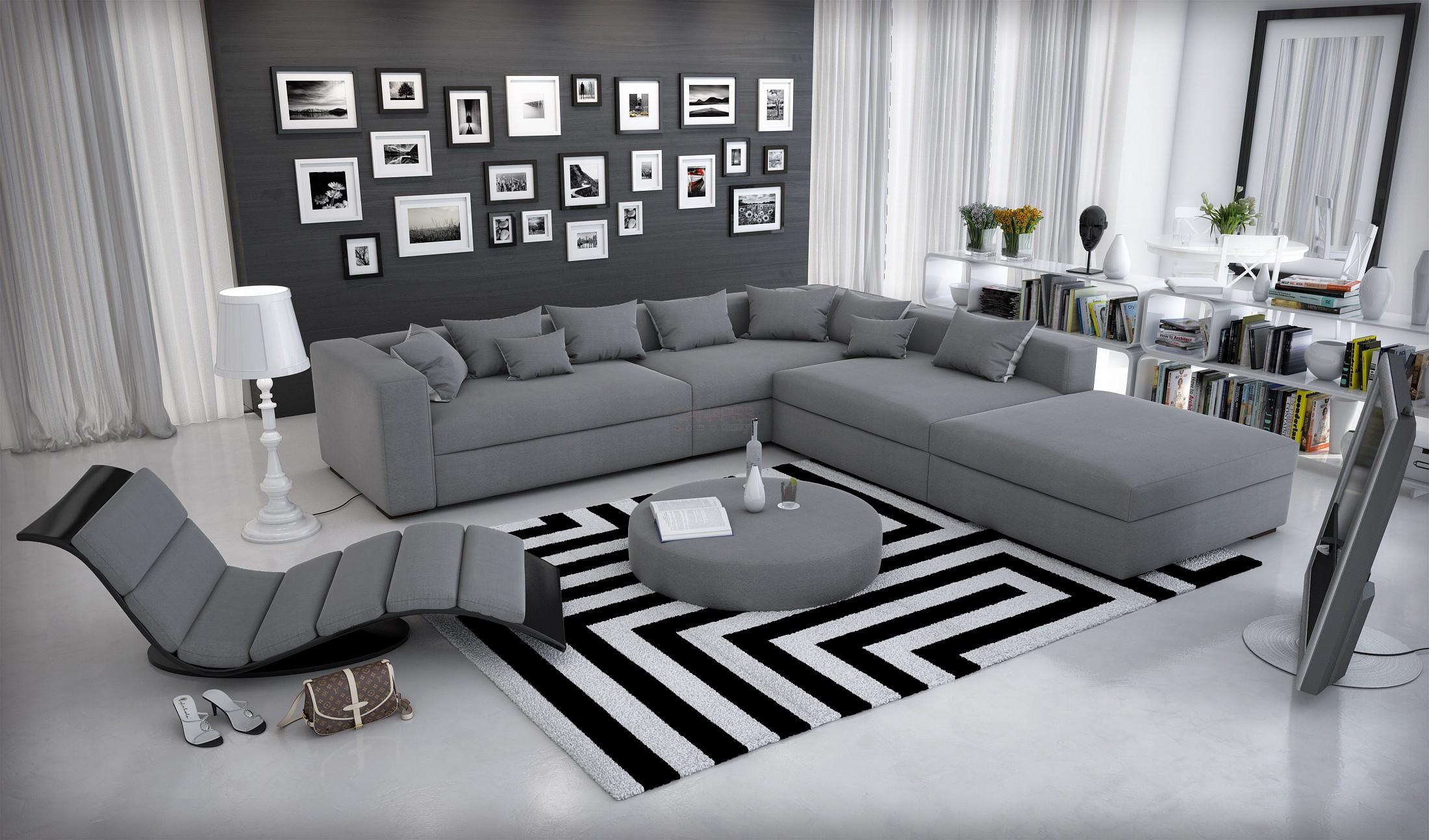 Canape d'angle contemporain