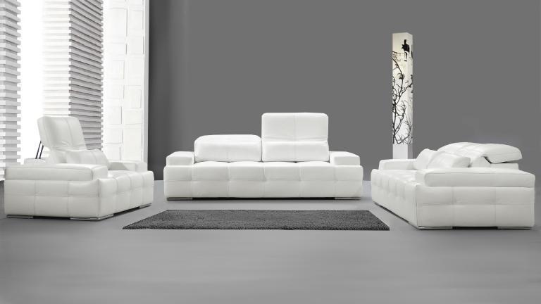 Canapé design blanc