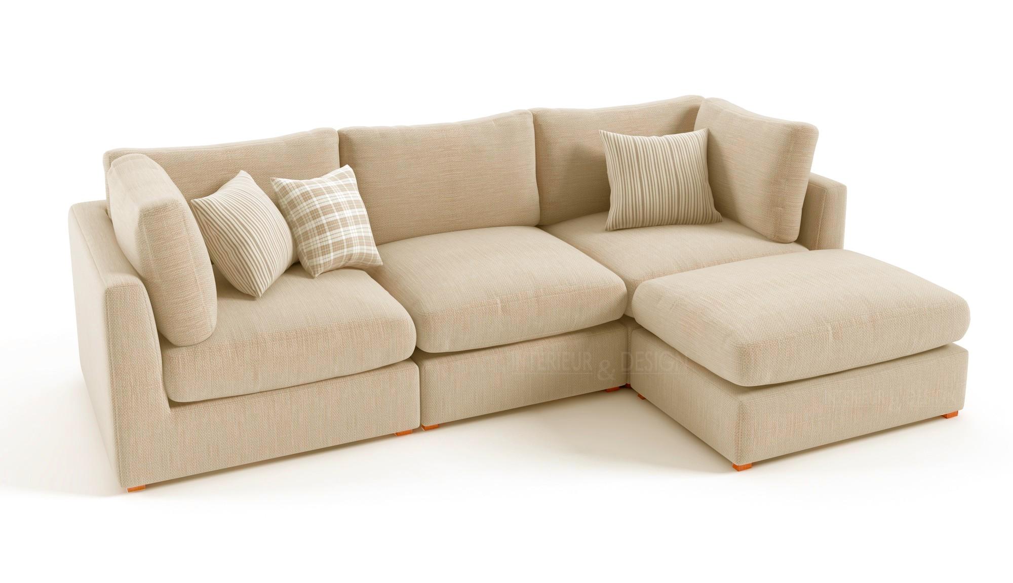 Canapé d'angle italien tissu