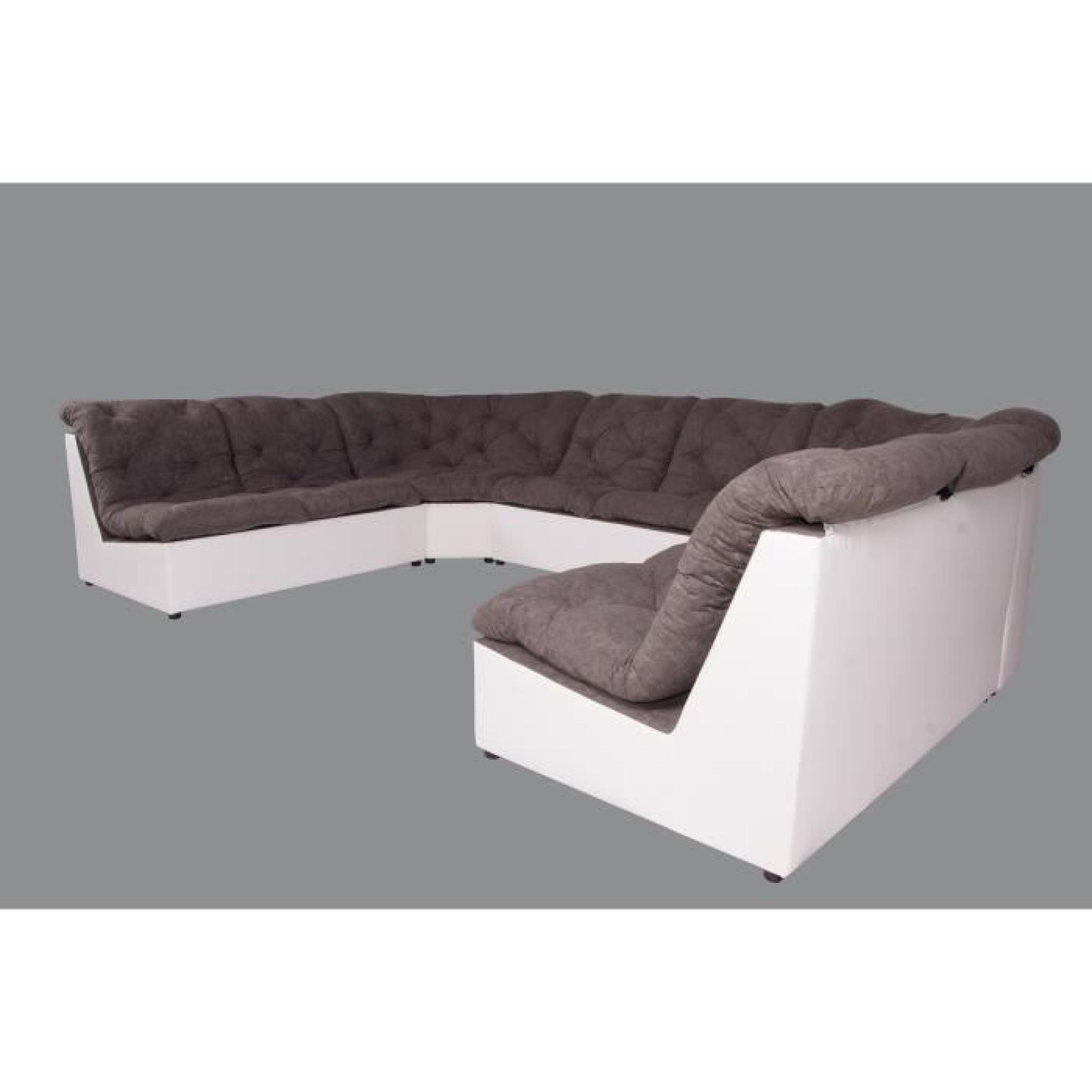 Scala canapé d'angle panoramique modulable 6 places