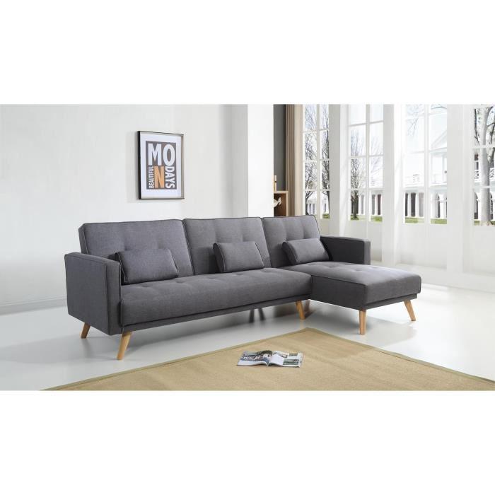 Canapé d'angle pied en bois