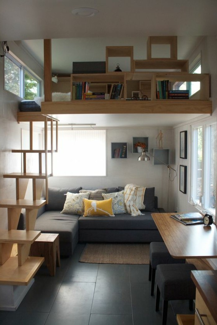 Canapé d'angle dans petit salon