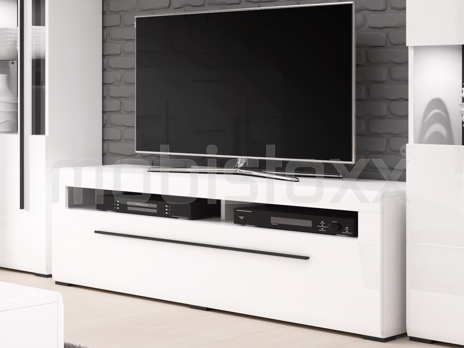 Meuble tv blanc laqué belgique
