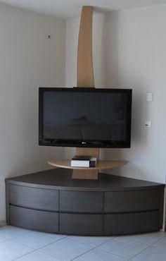 Meuble en coin tv
