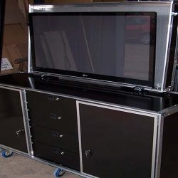 Flight case meuble tv