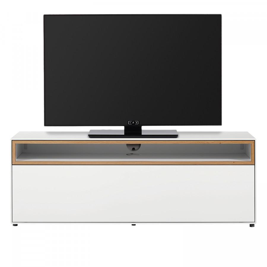 Meuble tv blanc laqué home24