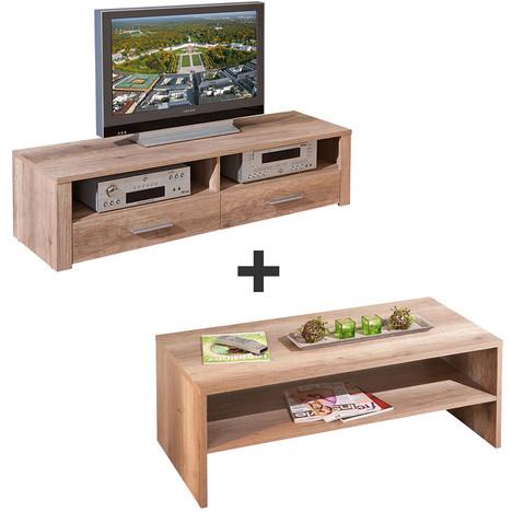 Ensemble table basse meuble tv