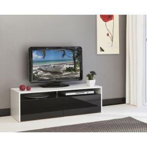 Rumba meuble tv contemporain mélaminé blanc