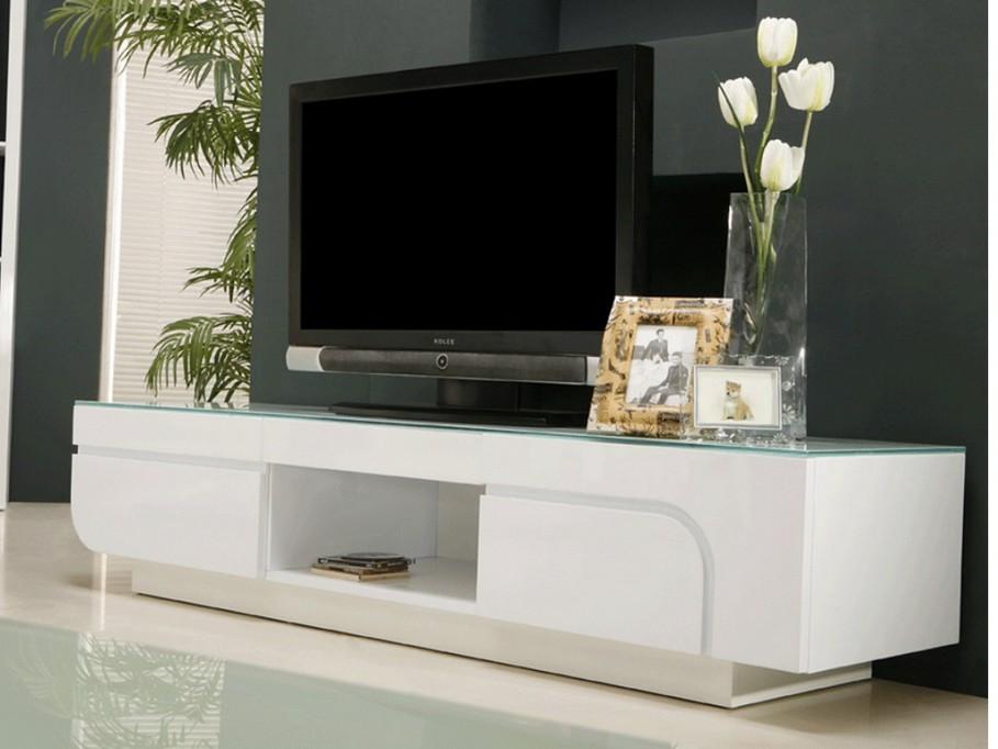 Vente unique meuble tv blanc