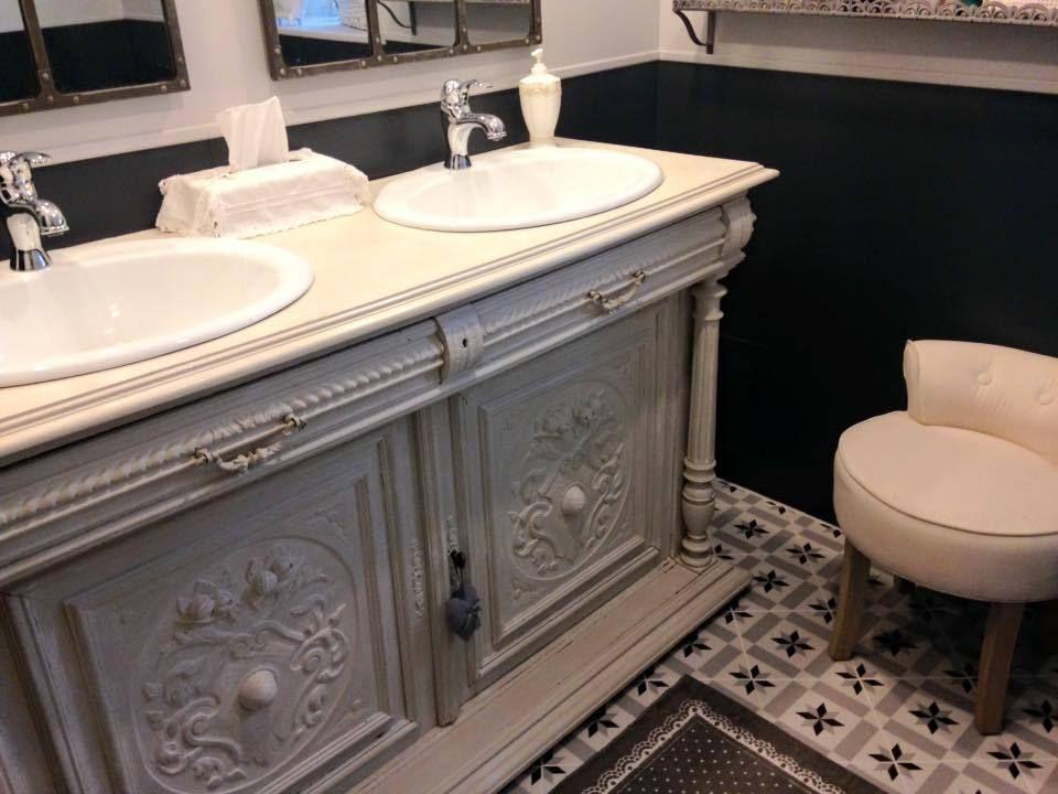 Meuble salle de bain vintage design