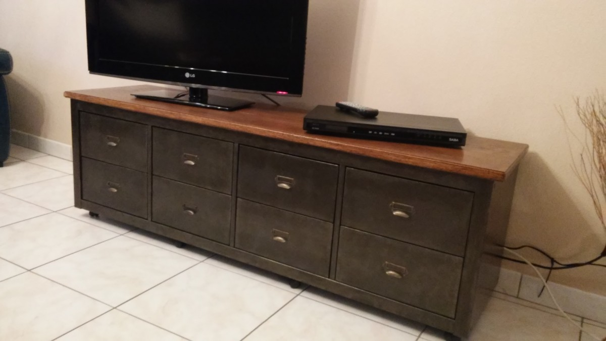 Relooker un meuble tv d'angle