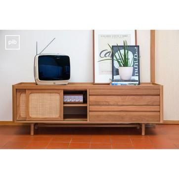 Meuble tv bois clair la redoute