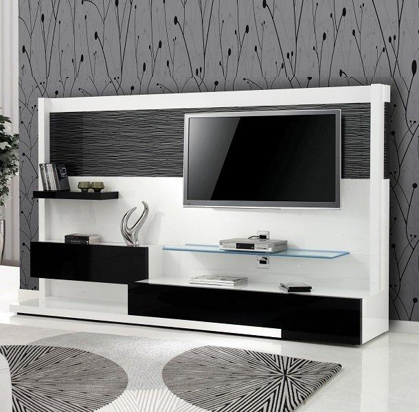 Meuble tv pour tv fixée au mur
