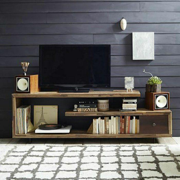 Meuble tv maison en pierre