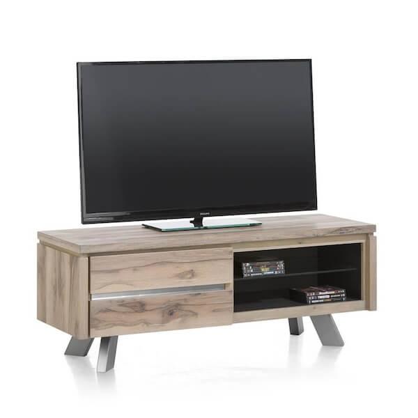 Meuble tv bois 130 cm