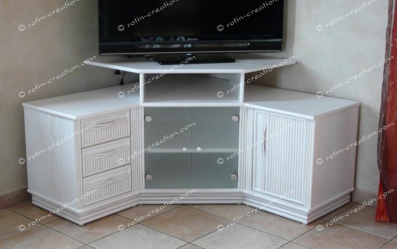 Meuble tv avec rangement angle