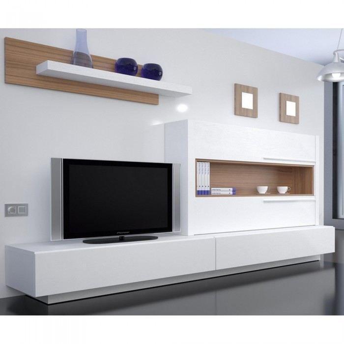 Meuble tv fly laqué blanc