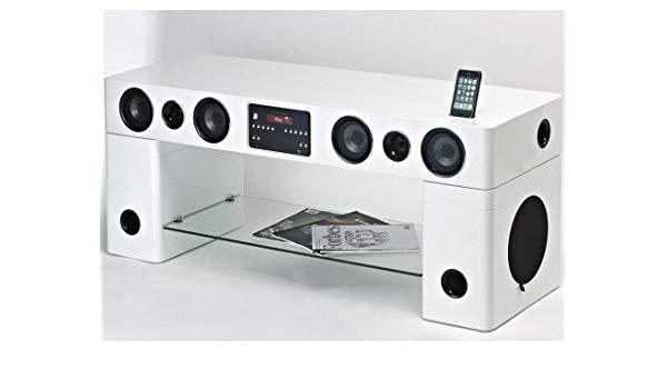 Meuble tv home cinéma intégré watts - noir