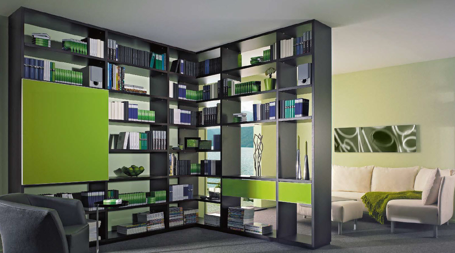 Meuble tv bibliothèque d angle