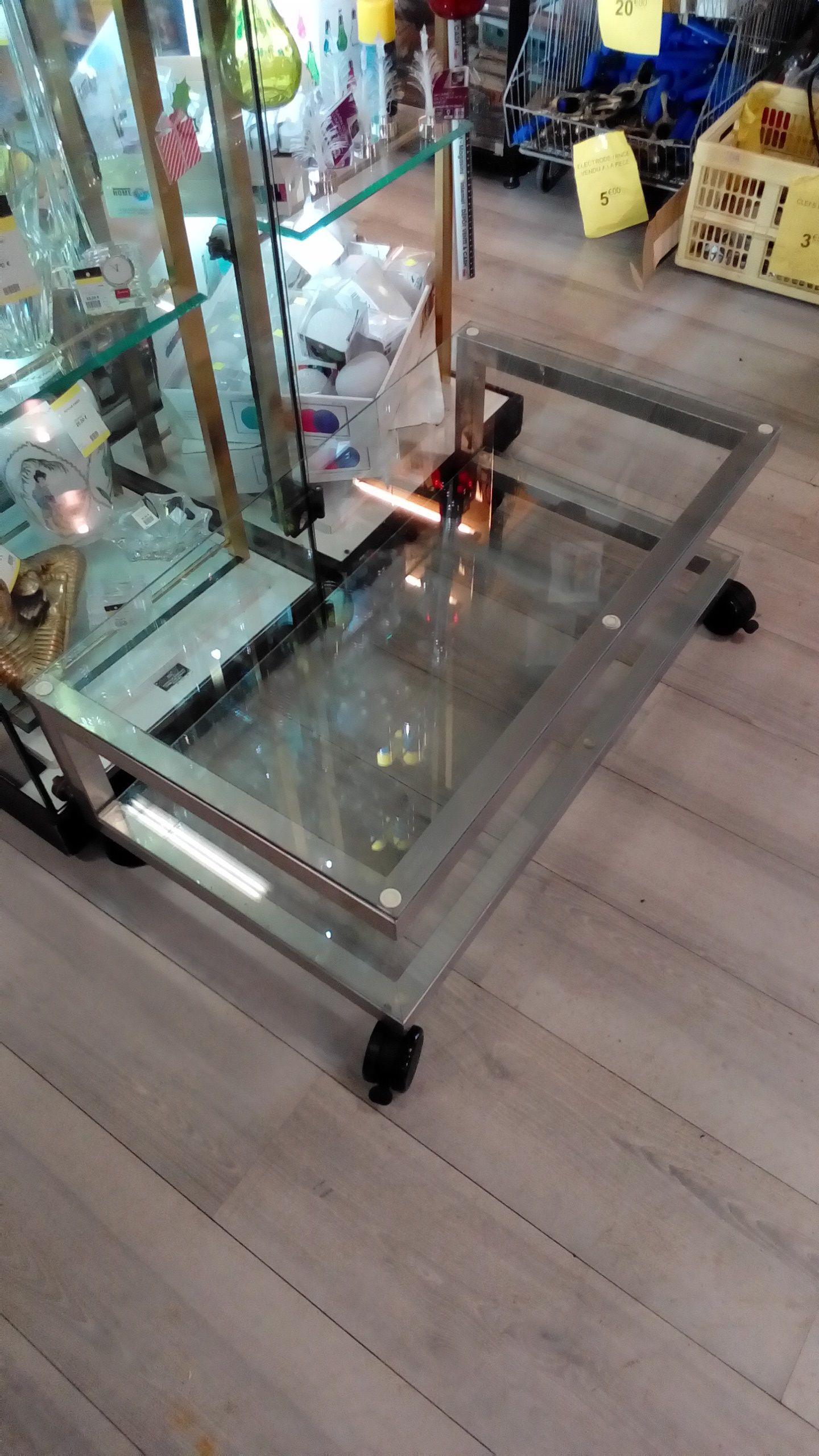 Meuble tv dessus verre
