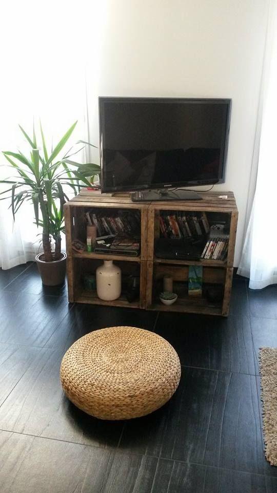 Meuble tv caisses