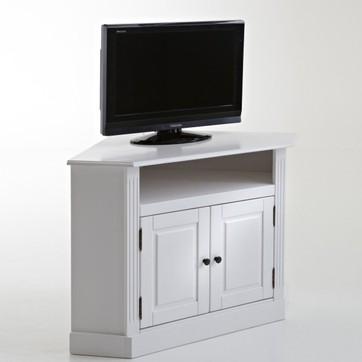 Meuble tv bois clair angle