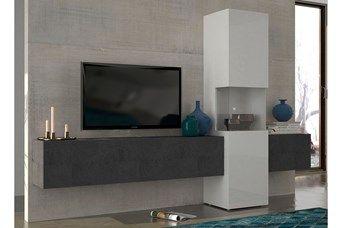 Meuble tv imitation marbre