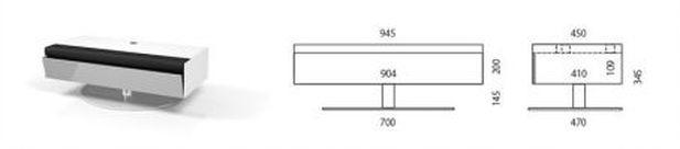 Meuble tv avec intégration barre de son bose spectral disc 03